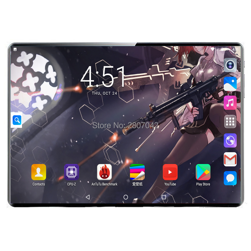 Fast Shipping 10 Inch Tablet PC 10 Core 8GB RAM 128GB ROM Dual SIM 4G Lte Cell Phone Tablets Rugged 2.5D 1920*1200 FHD Screen