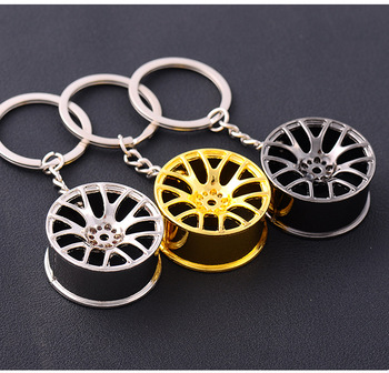 Car Wheel Rim Key Chain for Honda CRV CR-V XRV CITY For Toyota Corolla Rav4 Ralink YARiS Camry image