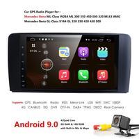 2din Car Radio gps Android 9.0 NO DVD Multimedia Player for Mercedes Benz ML W164 ML300 GL X164 GL320 350 420 450 500 R W251280