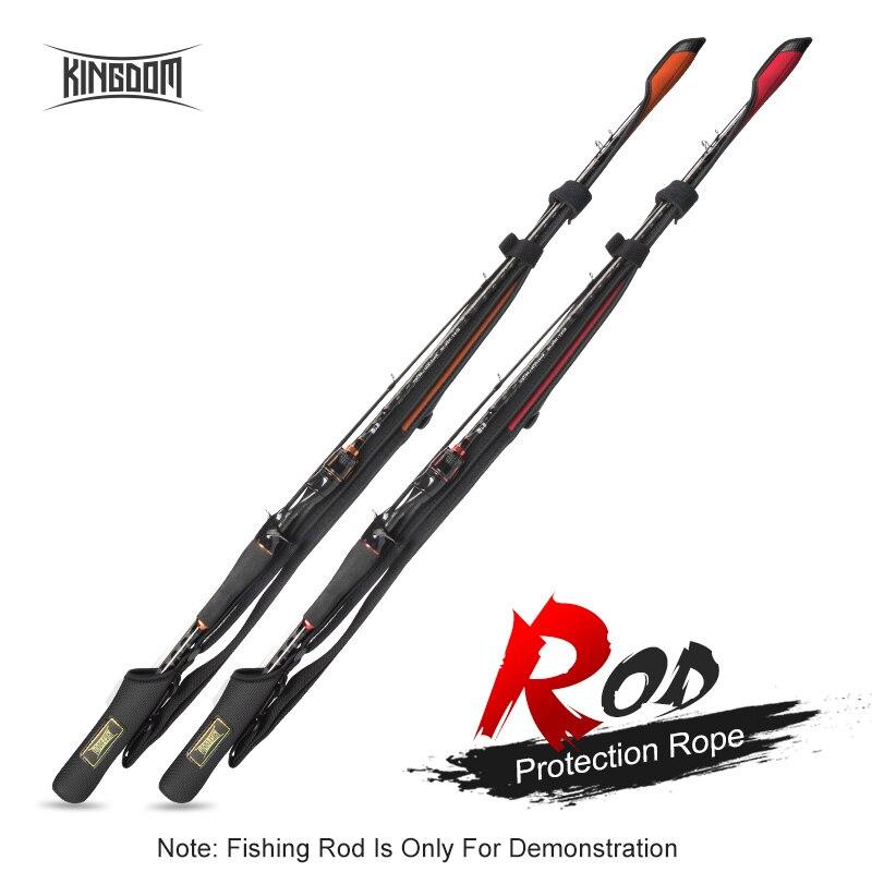 Reino girando varas de pesca 102cm-152cm haste de fundição proteção comprimento da corda ajustável para varas de proteção tampão pólo saco de armazenamento
