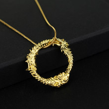 Fahsion Movie Jewelry Skyrim The Elder Scrolls Ancient Dragon Necklaces Dragon Pendants Necklaces For Women Men Gift(China)