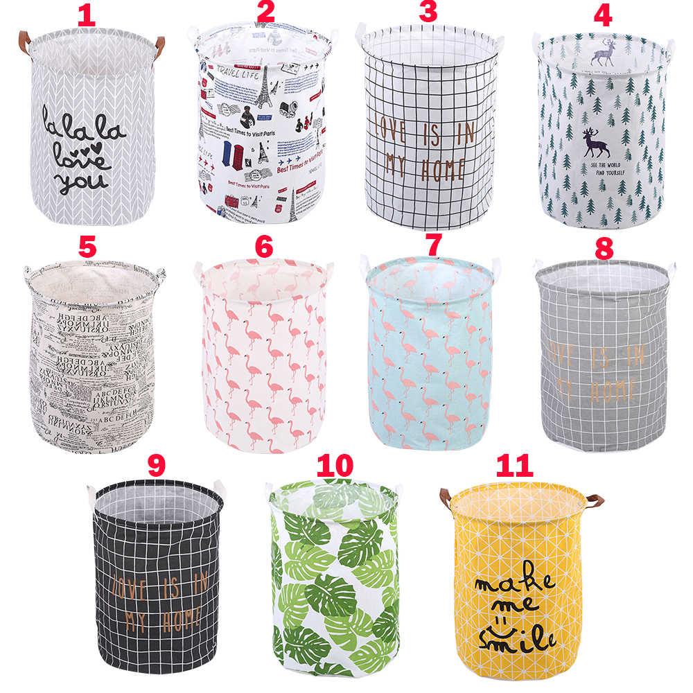 Wasserdicht Falten Tuch Kunst Schmutzige Kleidung Spielzeug Lagerung Eimer Wäsche Korb Waschen korb Mit Griff Für Bad Haushalt