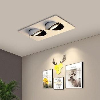 [DBF]360 Angle Adjust LED Recessed Downlight 10W 14W 20W 24W LED Ceiling Spot Light 3000K/4000K/6000K Black/White Housing Light 5