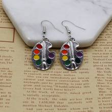 New Charm Marker Painting Edition Artist Earrings, Pigment Earrings Creative Personality Ms. Gift Jewelry