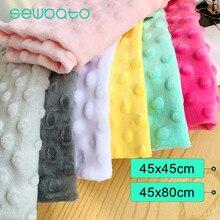 SEWBATO 45x4 5/80cm Minky Dot tissu pour coudre des vêtements 31 couleurs Super doux en peluche tissu écologique Polyester travail manuel tissu