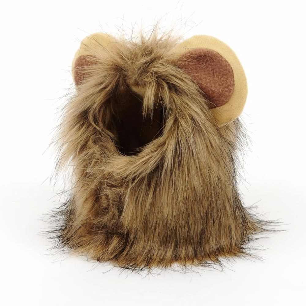 Słodkie zwierzątko czapka przebranie na karnawał lew kształt kapelusz Doggy Kitty lwia grzywa kapelusz wygodna czapka dla kota miękkie dla szczeniaka peruka oddychająca czapka dla zwierząt