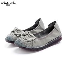 купить Women Shoes Casual Luxury Brand Summer Loafers Genuine Leather Moccasins Comfy Breathable Slip On Boat Shoes дешево