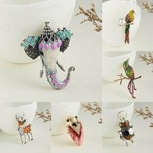 Rinhoo – broche en strass Sika pour femme, 1 pièce, motif Animal, éléphant, insecte, peinture en alliage, bijoux à la mode, cadeau