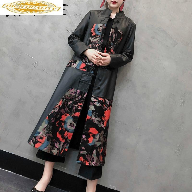 Real Leather Jacket Women Sheepskin Genuine Leather Jacket Vintage Slim Women Windbreaker Spring Veste Femme LH-2002 YY1873