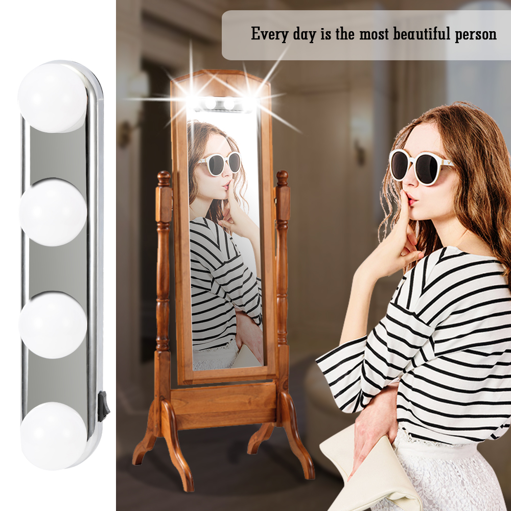 Studio Glow Make Up Light Vanity Lighting Cordless Professional Super Bright  with 4 LED Bulbs Portable Cosmetic Mirror Light|Novelty Lighting| -  AliExpress