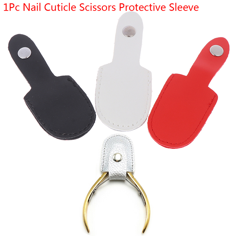 1pcs Hair Scissors Bag Nipper Cover Protective Sleeve Dead CuticleTrimmer Leather Protecter Kits