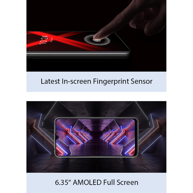 UMIDIGI X Screen Fingerprint 6.35 48MP 128GB NFC Helio P60 Global Version