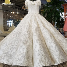 LS96120 100% real off shoulder short sleeves wedding gown trouwen corset back like white satin fabric royal design wedding dress
