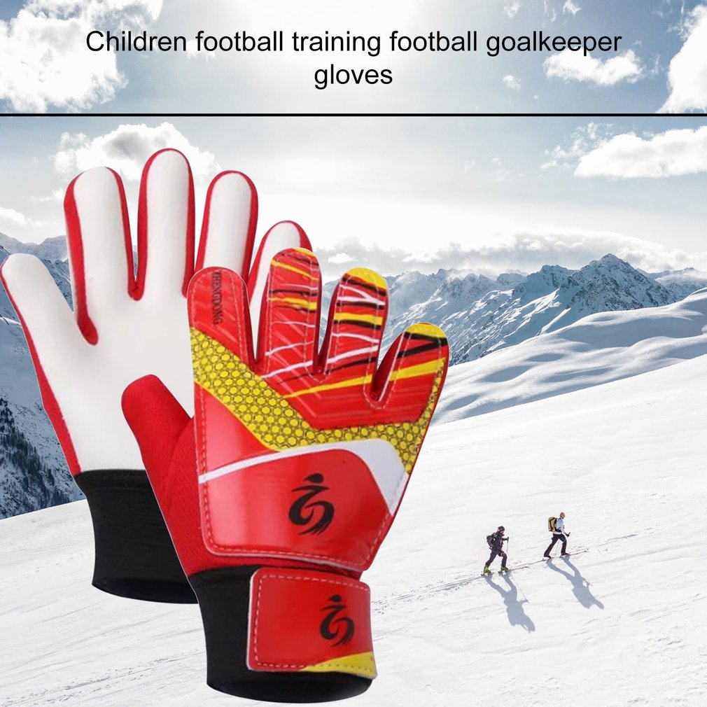 Thicken Non-slip Rubber Football Goalkeeper Gloves Goalie Children Soccer Finger Bone Protection Guard Gloves