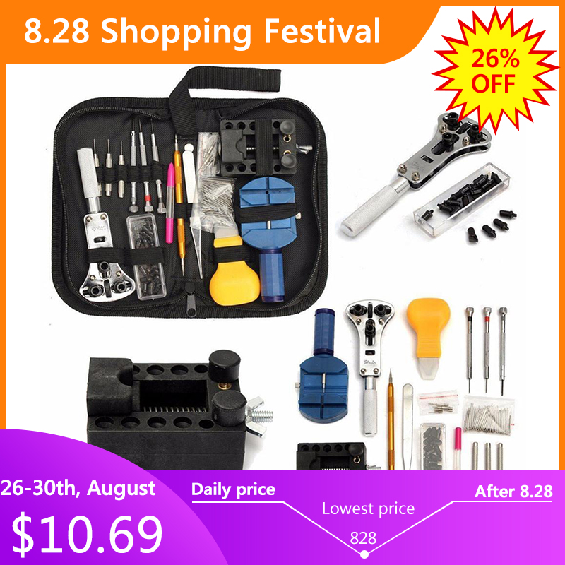 Clock Screwdriver Watch-Tools Remover Spring-Bar-Repair 144pcs Pry