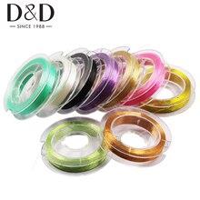 D& D 10 шт., 80 м, металлическая нить для швейной вышивальной машины, набор ниток, сделай сам, пряжа для вышивки крестом, крепкая нить, швейные принадлежности