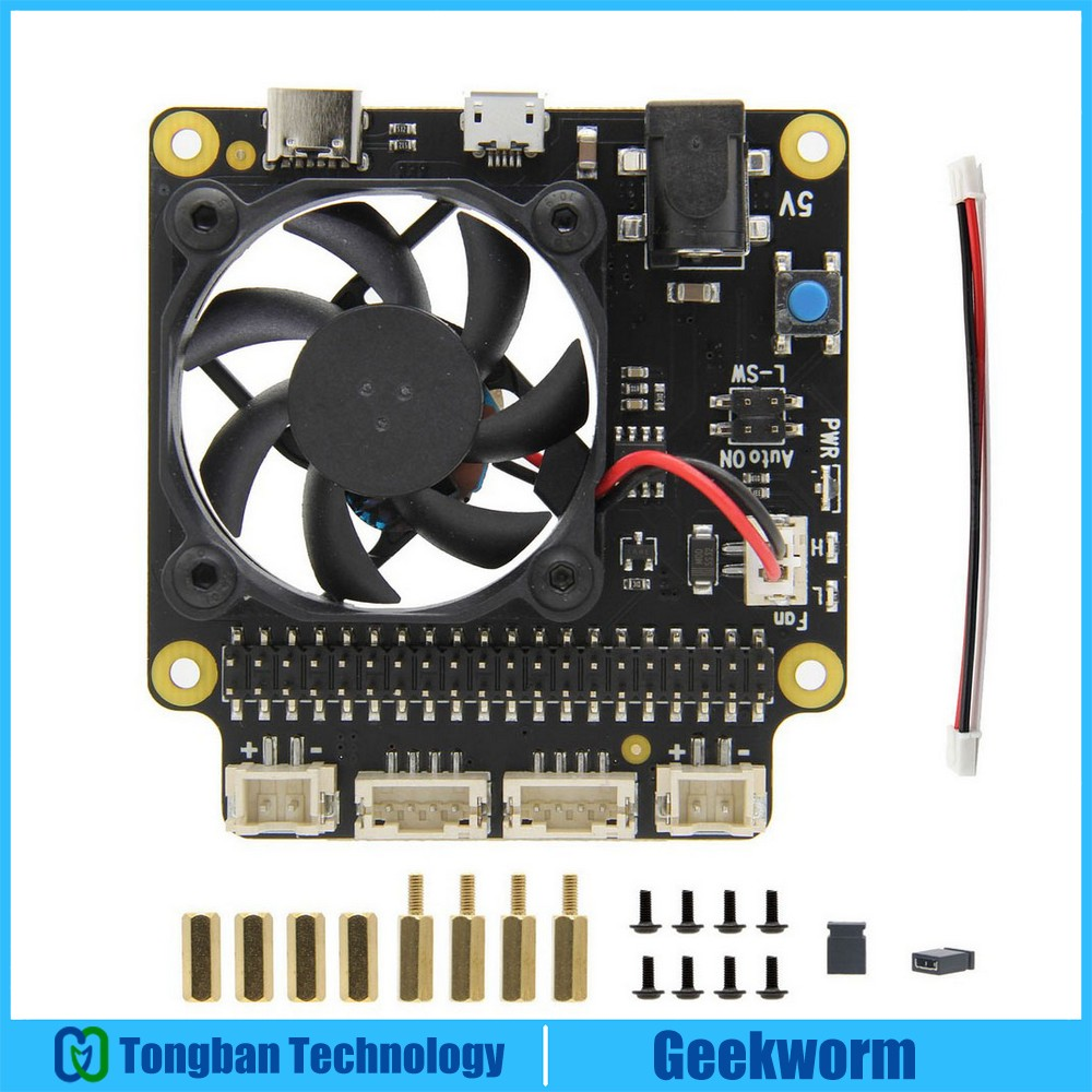 Raspberry Pi 4 Model B X735 Power Management & Auto Cooling Expansion Board With Safe Shutdown 5V Max,8A Output For Raspberry Pi