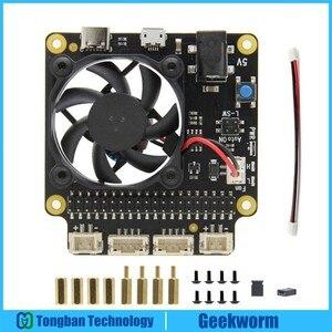 Image 1 - Raspberry Pi 4 modèle B X735, panneau dextension de gestion de lalimentation et de refroidissement automatique, avec extinction sûre 5V Max, sortie 8a