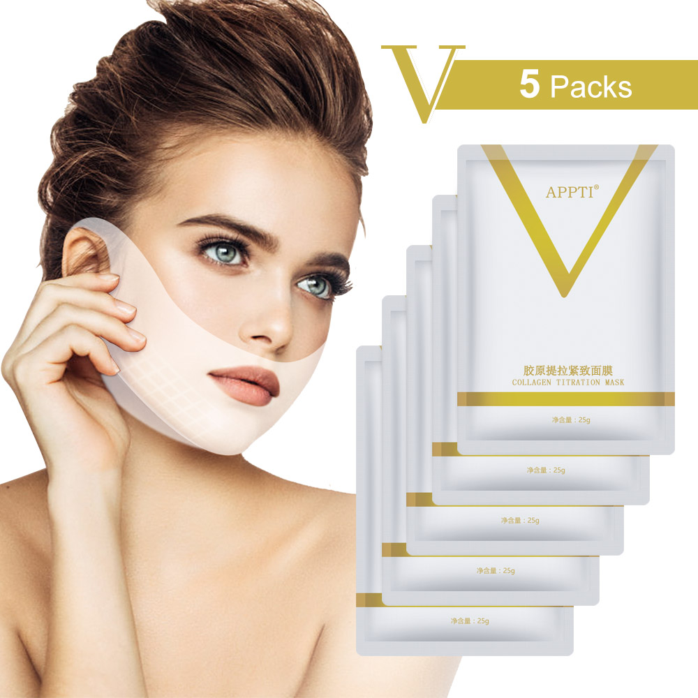 4D V Face Mask Eliminate Double Chin Edema Lifting Firming Facial Line Slimming V Shape Lift Patch Wrinkle Reduce Face Care Tool