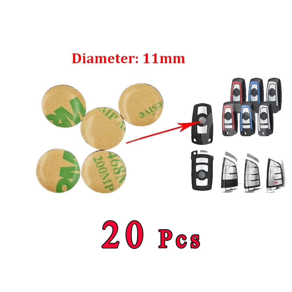 20 штук 11 мм наклейка на ключ от автомобиля эмблемы логотип для BMW 3 5 7 серия Z4 X3 X4 X5 X6 F30 E39 E28 E34 E46 E53 E60