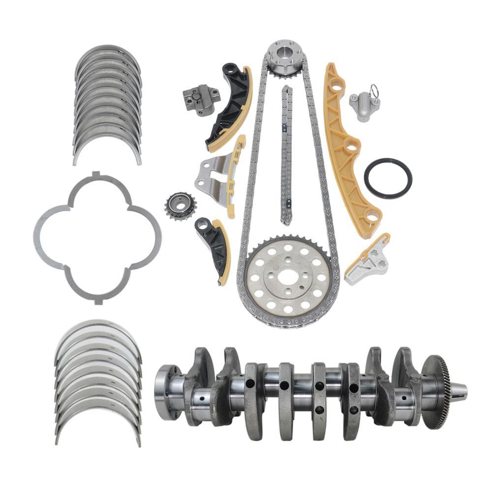 AP01 Crankshaft +Bearing + Timing Oil Pump Chain Kit For Mazda 2.2 Diesel R2AA MZR-CD