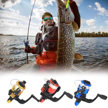 цена на Mini Ice Fishing Reel Spinning Wheel 3BB Bearings 5.2: 1 Metal Fish Reel Exquisite Spinning Reel Fishing Gear Outdoor Tools 150g