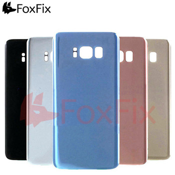 For SAMSUNG Galaxy S8 Back Battery Glass Cover Rear Housing Door Case Replacement For SAMSUNG S8 Plus Battery Cover G950 G955 10pcs lot for samsung galaxy core prime g360 g360h g360f housing battery cover door rear chassis back case housing replacement