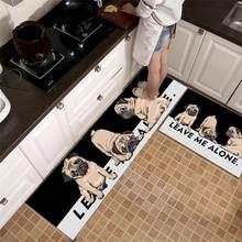 Tapete de cozinha moderna dos desenhos animados animais casa capacho tapete anti-deslizamento absorvente banho quarto sala de estar entrada tapetes da porta decoração