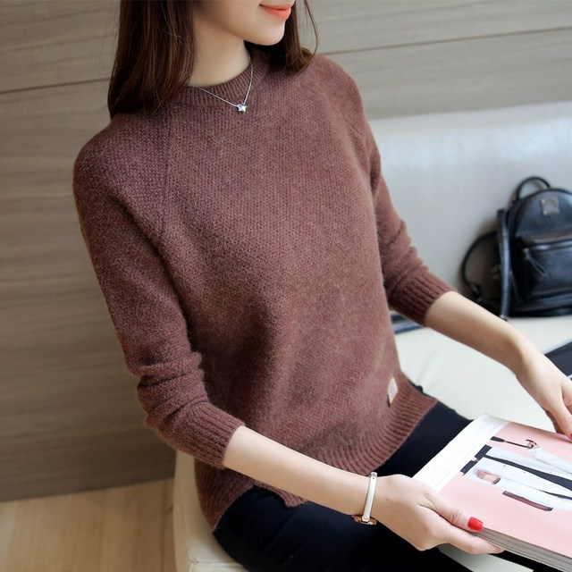 Ailegogo Women Sweaters And Pullovers Spring Autumn Long Sleeve Pull Femme Solid Pullover Female Casual Knitted Sweater 1