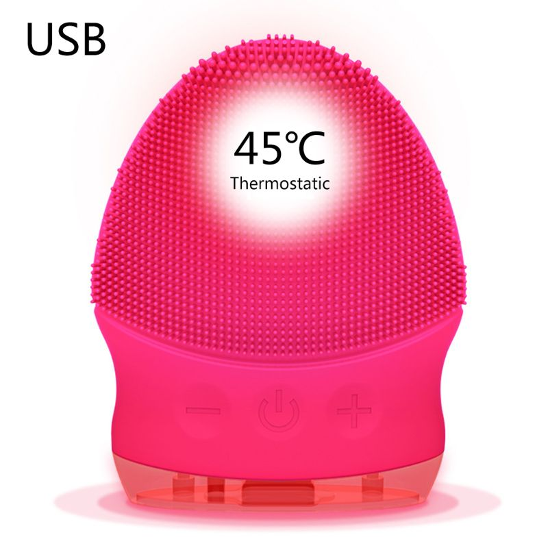 New USB Charging Electric Silicone Waterproof Cleansing Instrument Beauty Pore Cleaner Face Wash Brush Massager 7 x 8.5 x 3.4 cm|  - title=
