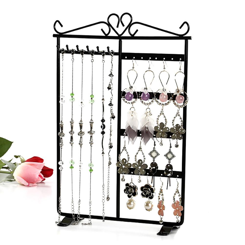 Earrings Necklace Jewelry Display Hanging Rack Metal Stand Organizer Holder Stand Organizer Holder For Necklaces