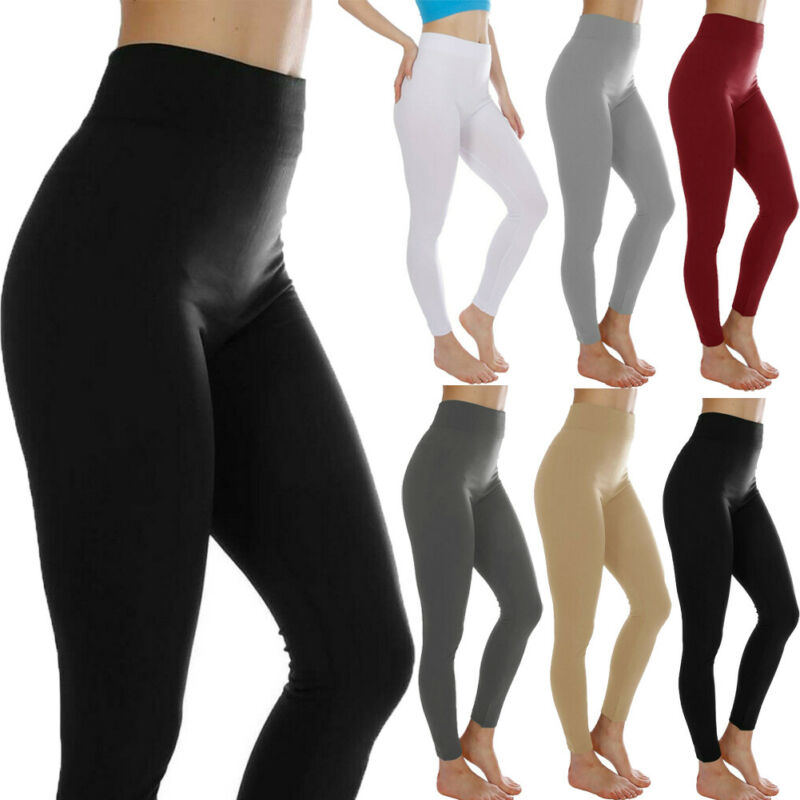Autumn Winter Fashion High Waist Fitness Leggings Women Workout Push Up Running Workout Gym Trousers Solid Elastic Pants