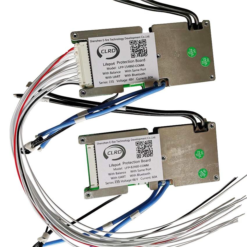 15S 48V 20A 30A 40A 60A Lifepo4 Smart Bms With Bluetooth And UART Communication