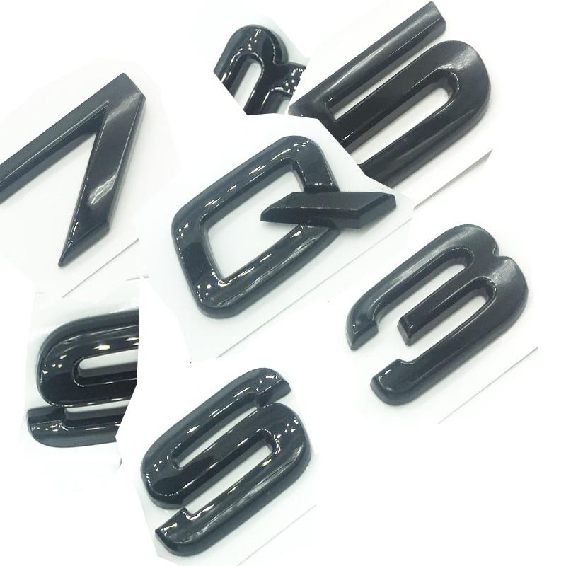 OEM ABS Nameplate for Audi T T R S TT TTS TTRS Gloss Black Emblem 3D Trunk Logo Badge Compact TTRS