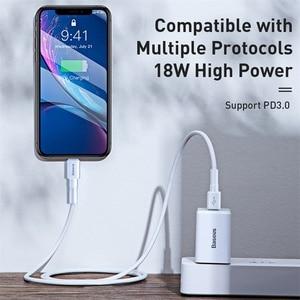 "Image 3 - Baseus ארה""ב תקע USB מטען 18W סוג C פ""ד מהיר מטען נייד מתאם נסיעות מטען קיר טעינה מהירה עבור סמסונג עבור Huawei"
