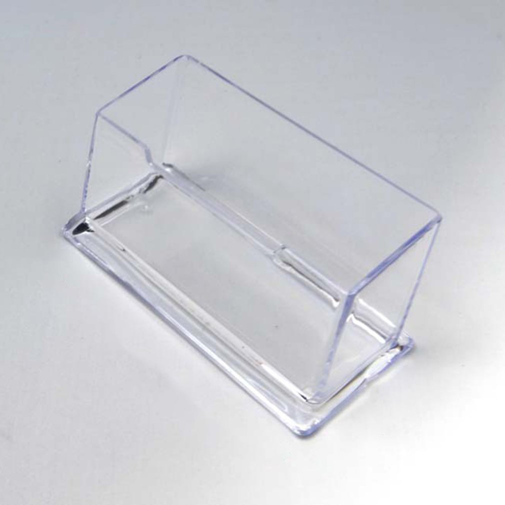 Clear Desk Shelf Storage Display Stand Acrylic Plastic Transparent Desktop Business Card Holder