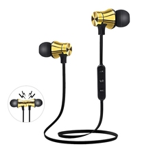 Беспроводная Магнитная спортивная Гарнитура Bluetooth, уличные наушники, Спортивная bluetooth гарнитура с микрофоном для телефона, ПК