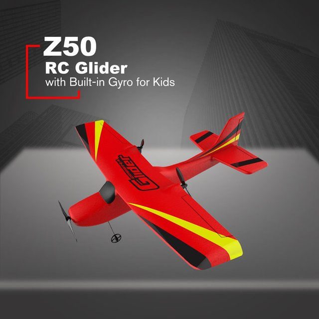 Z50 2.4G 2CH 350mm Micro Wingspan Remote Control RC Glider Airplane Plane Fixed Wing EPP Drone with Built-in Gyro for Kids 2