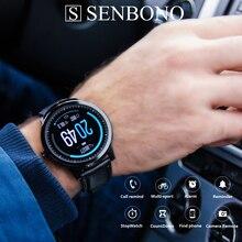 SENBONO S10 pro 2020 hommes femmes montre intelligente moniteur de fréquence cardiaque smartwatch Facebook INS rappel horloge intelligente pour IOS téléphone Android
