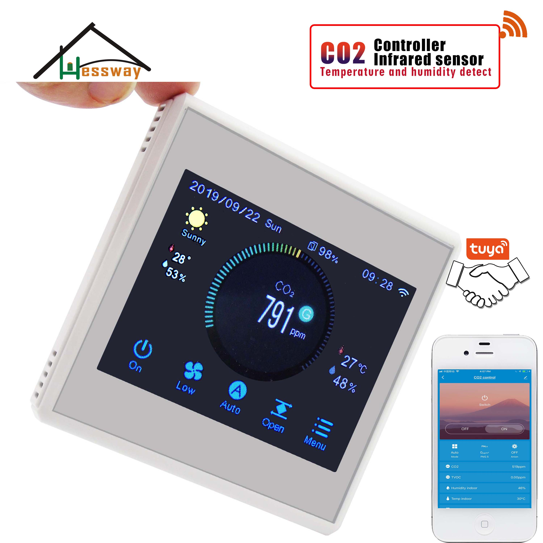 Image 2 - Hessway tuya app rs485 & modbus analisador de gás infravermelho detector sensor co2 para controlador do sistema arAnalisadores de gás   -