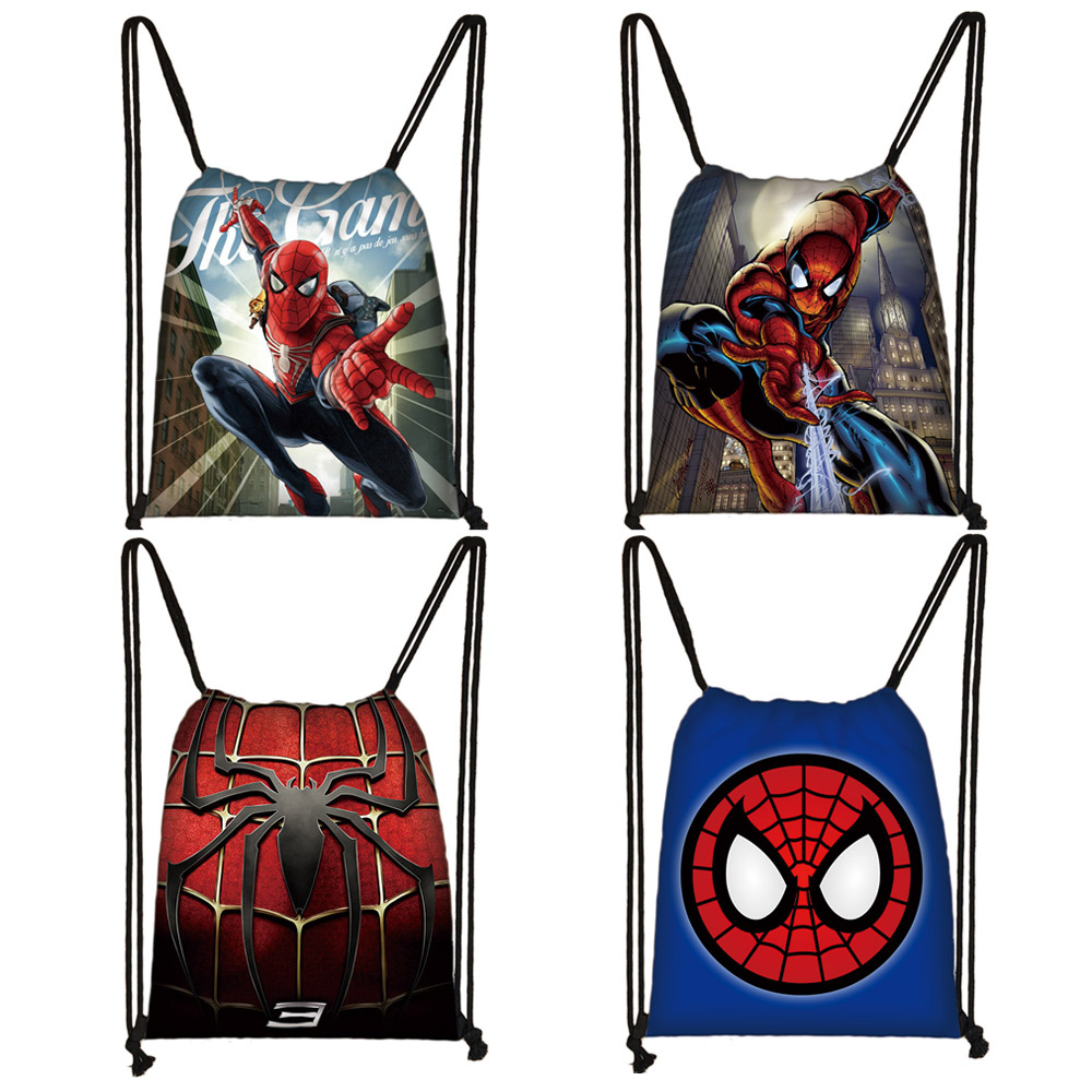 Cartoon Comics Drawstring Bag Teenager Boys Girls Storage Bag Casual Backpack Kids Bookbag Shopping Gift Bags