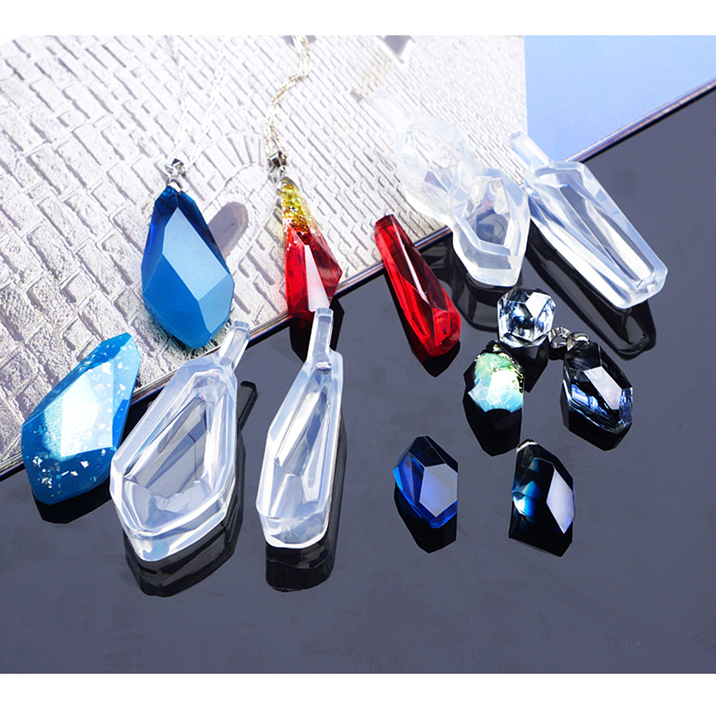 6 Pieces Mixed Shape Silicone DIY Pendant Mold Earring Necklace Mould For Resin Jewelry Making Tool