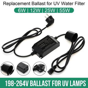 220V 6W 12W 25W 55W 75W Water Treatment Ultraviolet Light Bactericidal and Sterilizing UV Lamp Power Adapter with Plug Ballast(China)