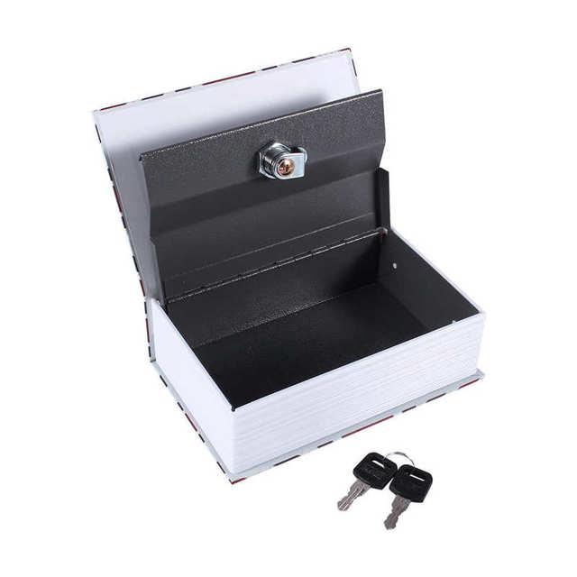 Secret Hidden Safe Security Box of Dictionary Book Shape Key Box For Money Cash Jewelry Safe Deposit Box Mini Lock Box for home 4