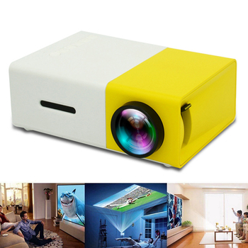 Miniproyector LED YG300 para el hogar, alta definición, compatible con AV, CVBS, HDMI, USB, Interfaces Multimedia, proyector 2