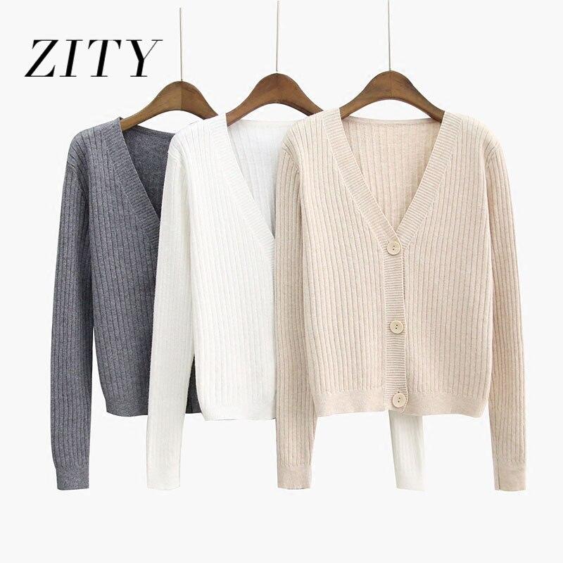 Женский свитер ZITY, пончо, однобортный Кардиган, Осень зима 2020, Однотонные кардиганы Harajuku, Короткие повседневные топы| |   | АлиЭкспресс