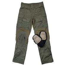 TMC2901-RG homens g3 militar airsoft combate tático calças de acampamento + joelheiras frete grátis