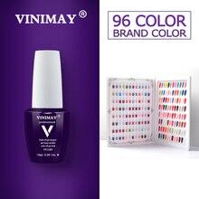 VINIMAY 96 컬러 젤 네일 폴리시 젤 폴리쉬 젤 Varnis Gellak Varnish Primer Set opies UV 젤 폴리쉬 네일 아트 살롱 15ML