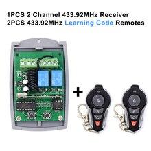 12 24V 433.92 Mhz Vaste Code En Rolling Code Ontvanger Garagedeur Controller 2 Kanaals Garagedeur Afstandsbediening ontvanger 2X1527 Afstandsbedieningen