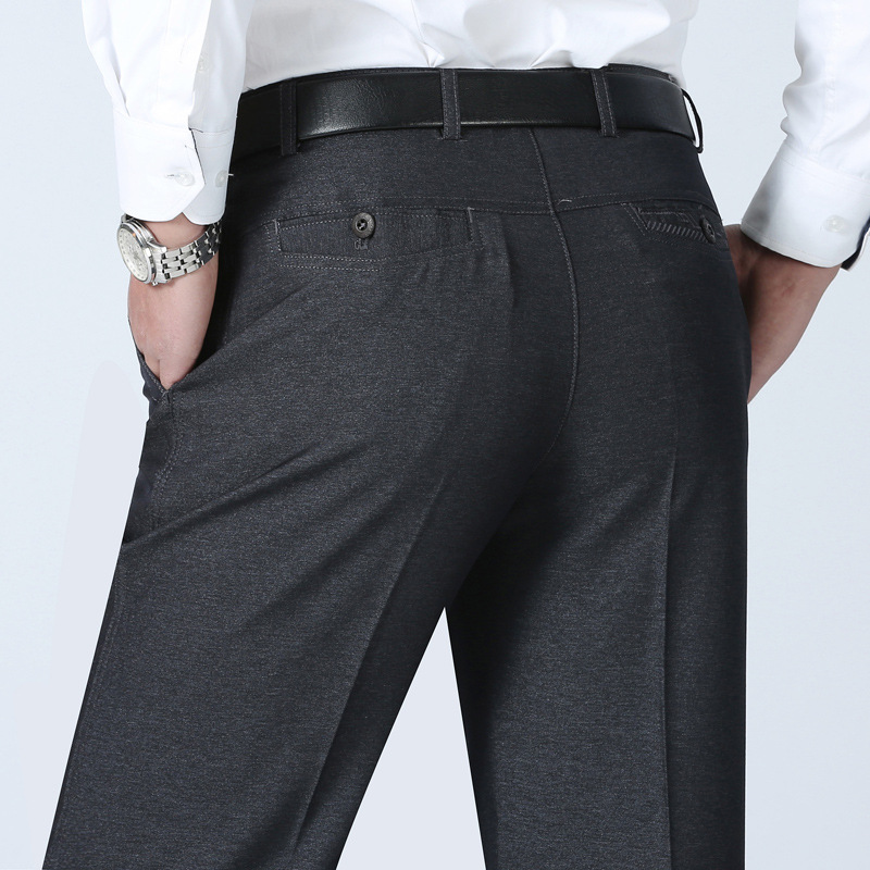 MRMT 2019 Brand Summer Men's Trousers Middle-aged Casual Pants Thin Loose Business Pants For Male Straight Tube Size Trouser
